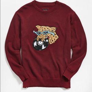 Barney Cools Techno Tiger Knit Crew-Neck Sweater